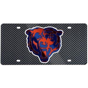 Chicago Bears Carbon Fiber License Plate