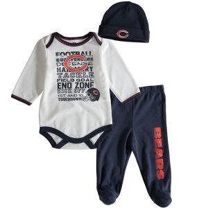 Chicago Bears Gerber Newborn & Infant Kick Off Bodysuit, Pants and Hat Set