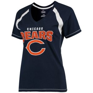 Chicago Bears Majestic Women's Plus Size Game Day V-Neck T-Shirt