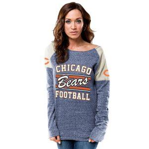 Chicago Bears Majestic Women's Scramble Sport Crew Fleece Sweatshirt