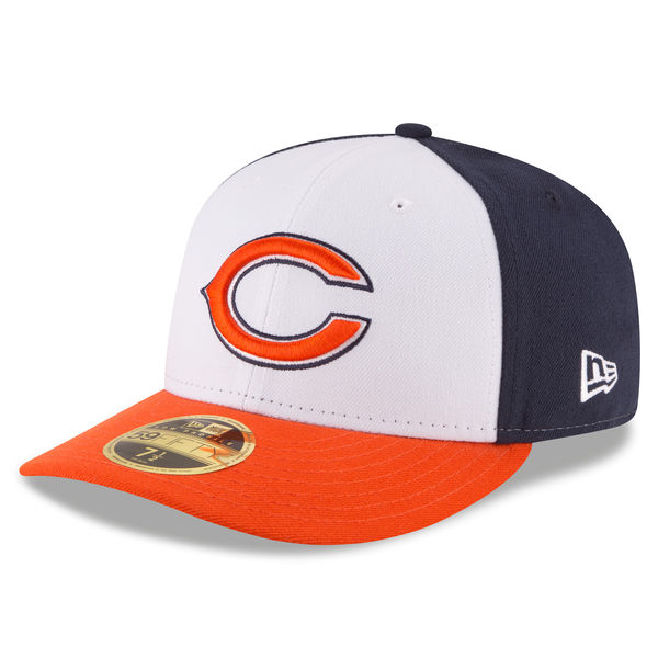 Chicago Bears New Era Front N Center Low Profile 59FIFTY Fitted Hat ... f7fd0baa47d