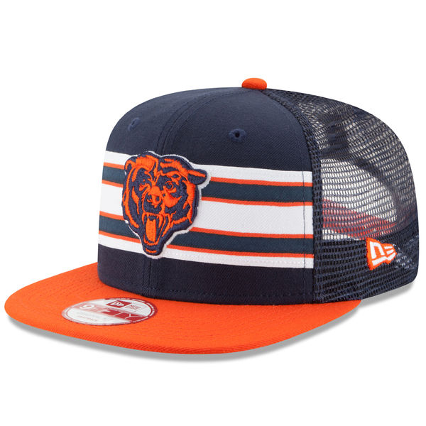 Chicago Bears New Era Throwback Stripe Original Fit 9FIFTY Snapback  Adjustable Hat 15cb2b54a928