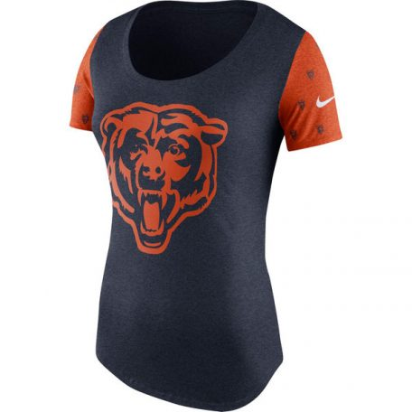 ef0ee322bb10 Chicago Bears Nike Women s First String Tri-Blend T-Shirt – Chicago ...
