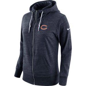 Chicago Bears Nike Women's Tailgate Vintage Full-Zip Hoodie