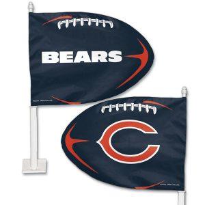 Chicago Bears WinCraft Football Shaped Car Flag
