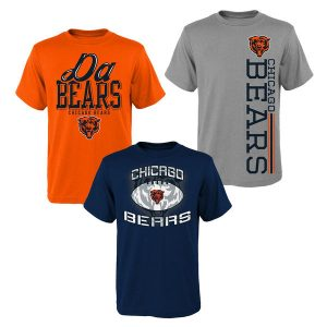 Chicago Bears Youth 3-Pack T-Shirt Set
