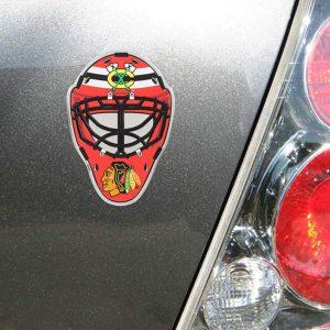 Chicago Blackhawks Goalie Mask Auto Emblem