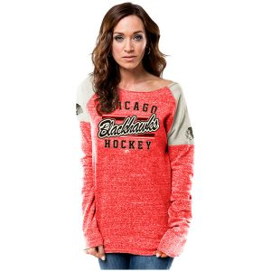 Chicago Blackhawks Majestic Women's Plus Size Scramble Sport Fleece Sweatshirt
