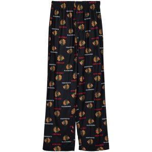Chicago Blackhawks Reebok Youth Allover Printed Sleeper Pants
