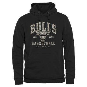 Chicago Bulls Camo Stack Pullover Hoodie