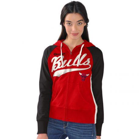 Chicago Bulls G-III 4Her by Carl Banks Women's All World Raglan Full-Zip Hoodie