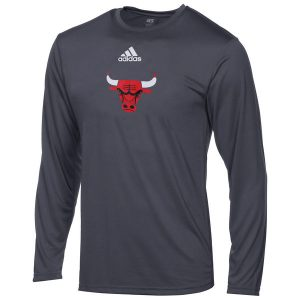 Chicago Bulls Youth adidas Pregame climalite Long Sleeve T-Shirt