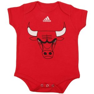 Chicago Bulls adidas Newborn Primary Logo Bodysuit
