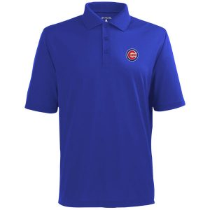 Chicago Cubs Antigua Desert Dry Xtra-Lite Polo