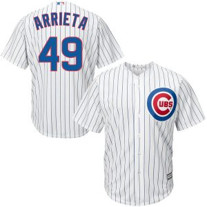 Chicago Cubs Jake Arrieta Majestic Official Cool Base Player Jersey