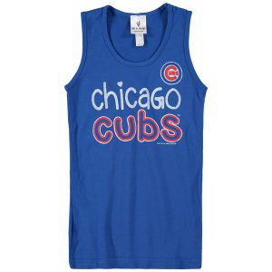Chicago Cubs Soft as a Grape Girls Youth Curveball Tank Top