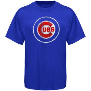 Chicago Cubs Youth Distressed Team Logo T-Shirt