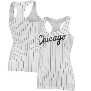 Chicago White Sox 5th & Ocean by New Era Women's Opening Night Pinstripe II Tank Top