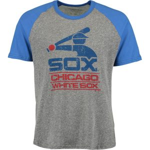 Chicago White Sox Majestic Threads Cooperstown Collection Raglan Tri-Blend T-Shirt –