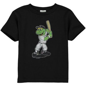 Chicago White Sox Toddler Black Distressed Mascot T-shirt