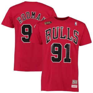 Dennis Rodman Chicago Bulls Mitchell & Ness Hardwood Classics Name & Number T-Shirt