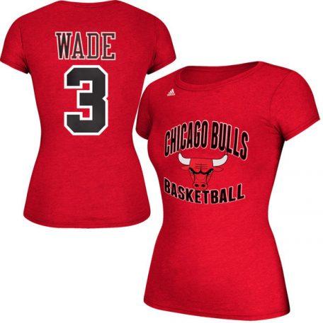 Dwyane Wade Chicago Bulls adidas Women's Name & Number T-Shirt