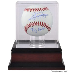 Frank Thomas Chicago White Sox Fanatics Authentic Autographed Baseball with Big Hurt Inscription and Mahogany Baseball Display Case