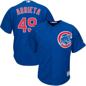 Jake Arrieta Chicago Cubs Majestic Official Cool Base Player Jersey