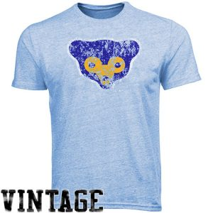 Majestic Threads Chicago Cubs Cooperstown Collection Tri-Blend T-Shirt