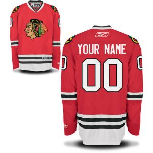 Reebok Chicago Blackhawks Custom Youth Premier Home Jersey