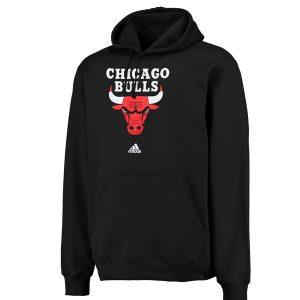 adidas Chicago Bulls Logo Pullover Hoodie Sweatshirt