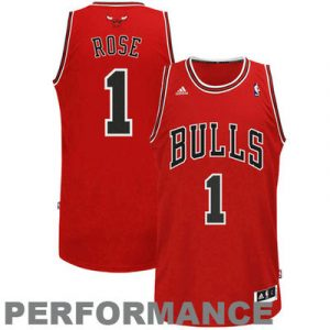 Derrick Rose Chicago Bulls adidas Swingman Road Jersey – Red