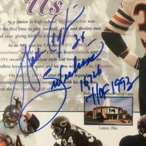 Walter Payton Signed Photo Professionally framed/matted w/3 inscriptions Chicago Bears WPF COA