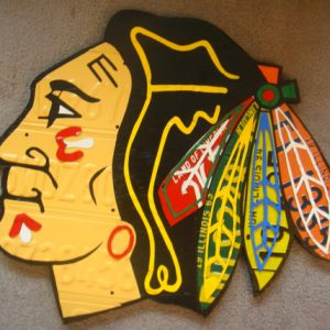 CHICAGO BLACKHAWKS LOGO Sign!!! One Of A Kind Piece!!
