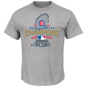 Chicago Cubs Majestic 2016 World Series Champions Locker Room T-Shirt – Gray