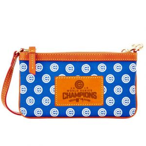 Chicago Cubs Dooney & Bourke Women's 2016 World Series Champions Team Color Wristlet – Blue