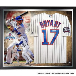 Kris Bryant Chicago Cubs Fanatics Authentic 2016 MLB World Series Champions Framed Autographed Majestic White Replica World Series Jersey Collage