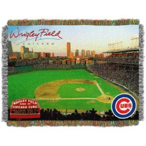 MLB 48″ x 60″ Stadium Series Tapestry Throw, Chicago Cubs Wrigley Field