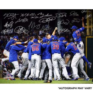 Chicago Cubs Fanatics Authentic 2016 MLB World Series Champions Autographed 16″ x 20″ Celebration Photograph with 18+ Signatures – Limited Edition of 150
