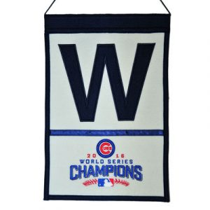 Chicago Cubs 2016 World Series Champions 12″ x 18″ W Banner