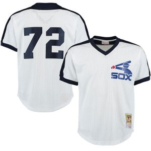 Carlton Fisk Chicago White Sox Mitchell & Ness Cooperstown Mesh Batting Practice Jersey