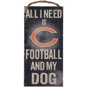 Chicago Bears 6″ x 12″ Football and My Dog Sign