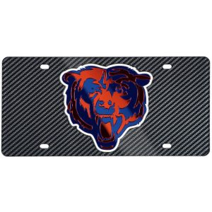 Chicago Bears Carbon Fiber License Plate