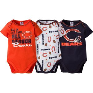 Chicago Bears Gerber Newborn & Infant All Season 3-Pack Bodysuit Set