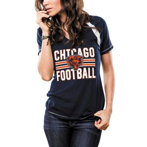 Chicago Bears Majestic Women's Game Day V-Neck T-Shirt
