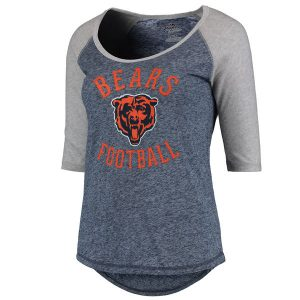 Chicago Bears Majestic Women's Plus Act Like a Champion 1/2 Sleeve Raglan T-Shirt