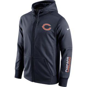 Chicago Bears Nike Sideline Circuit Full-Zip Performance Hoodie