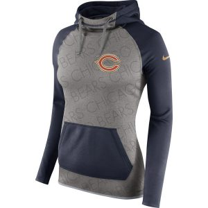 Chicago Bears Nike Women's Championship Drive Gold Collection All Time Performance Pullover Hoodie