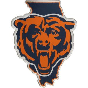 Chicago Bears State Shape Acrylic Metallic Auto Emblem