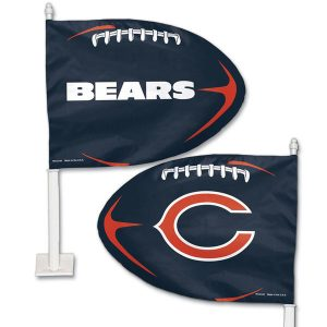 Chicago Bears WinCraft Football Shaped Car Flag
